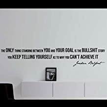 "Jordan Belfort Quote Motivational Wall Decal Home Office Décor ""The Only Thing Standing Between You and Your Goal"" 42x8 Inches"