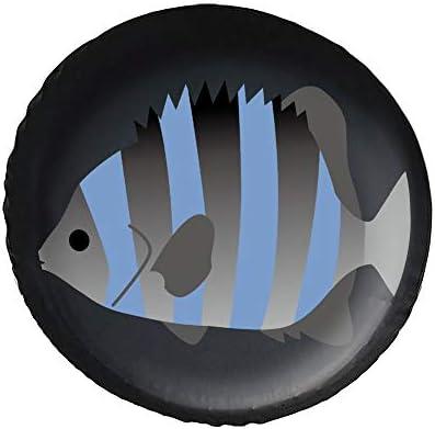 イシダイ 魚 Fish タイヤカバー タイヤ保管カバー 収納 防水 雨よけカバー 普通車・ミニバン用 防塵 保管 保存 日焼け止め 径83cm