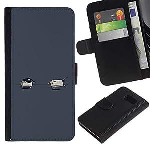 NEECELL GIFT forCITY // Billetera de cuero Caso Cubierta de protección Carcasa / Leather Wallet Case for Sony Xperia Z3 Compact // Ctrl Esc divertido