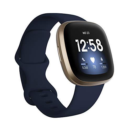 Fitbit Versa 3 – Smartwatch voor een actieve levensstijl met ingebouwde gps, minuten in actieve zones, spraakbediening…