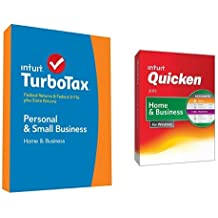 TurboTax Home and Business 2014 and Quicken Home and Business 2015 Bundle