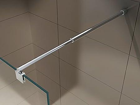 10mm Parete doccia Walk In EX101 vetro temprato satin Larghezza Walk-In:800mm larghezza selezionabile