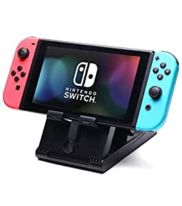 Nintendo Switch stand-play stand angle adjustable folding stand [Manufacturer Genuine 60 days exchange correspondence] [can also be used in smartphone iPad] Nintendo switch can be used to compact even while you connect the charging cable Excitech
