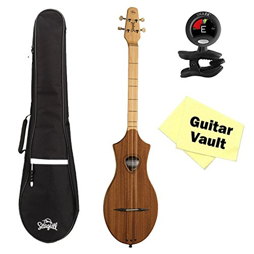 Seagull Merlin M4 Mahogany guitarVault Package w/ Gig Bag, Tuner and Polishing Cloth by Seagull