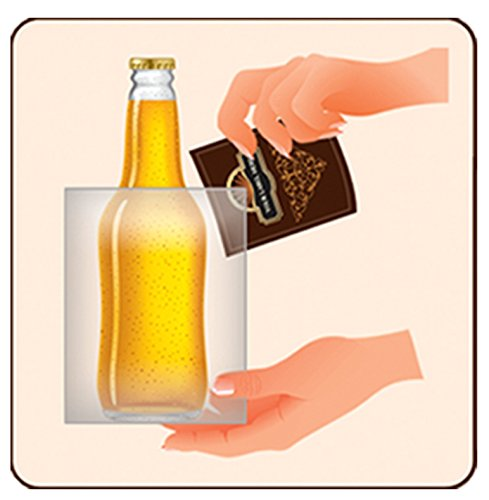 FastLabel Fermentation Accessories - Standard 12oz Beer Bottle labels - Never scrub a bottle again brought to you by FastFerment by FastLabel (Image #4)'