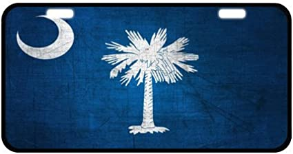 Novelty Tag South Carolina State Flag South Carolina Girl Best In The World Pattern Strong Aluminum Car License Plate 11.8 x 6.1 New Arrival