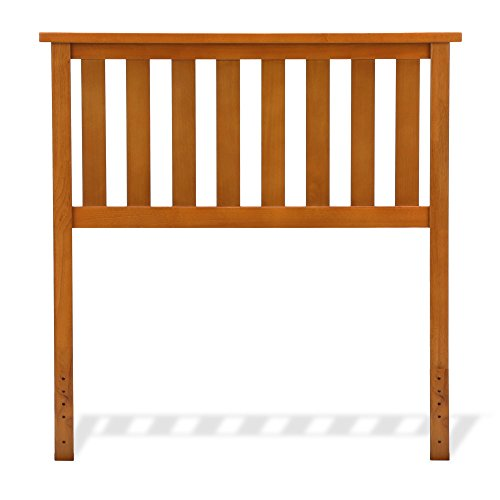 Fashion Bed Group Belmont Wood Headboard Panel with Flat Top Rail and Slatted Grill Design, Maple Finish, Twin Review