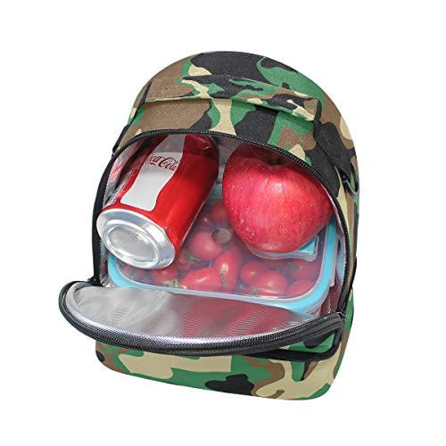 camuflaje Bolso para camuflaje correa de picnic almuerzo militar doble para ajustable camuflaje OBZYHqaB