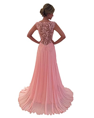 Nina Cheap Prom Dresses V Neck Sleeveless Women's Dress Formal Occasion Wear Party Gown Pink (4) by Nina (Image #1)