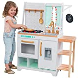 KidKraft Kensington Market Wooden Kids Kitchen Playset with Lights, Sounds & Kitchen Toys for Boys & Girls (Toddlers…