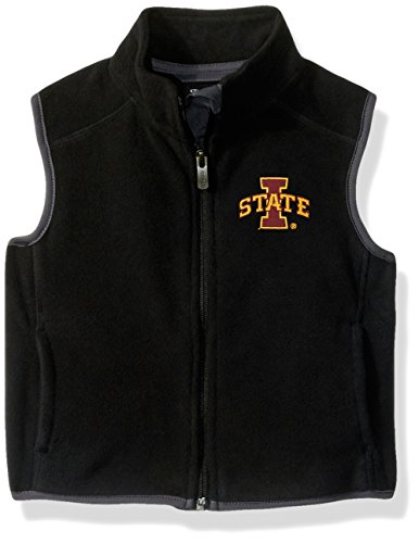 NCAA Iowa State Cyclones Kids & Youth Boys Scrimmage Polar Fleece Vest, Black, Youth Small(8) by NCAA by Outerstuff