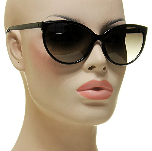 Women's Black Cat Eye Sunglasses Retro Classic Designer Vintage Fashion - Sunglasses Okey