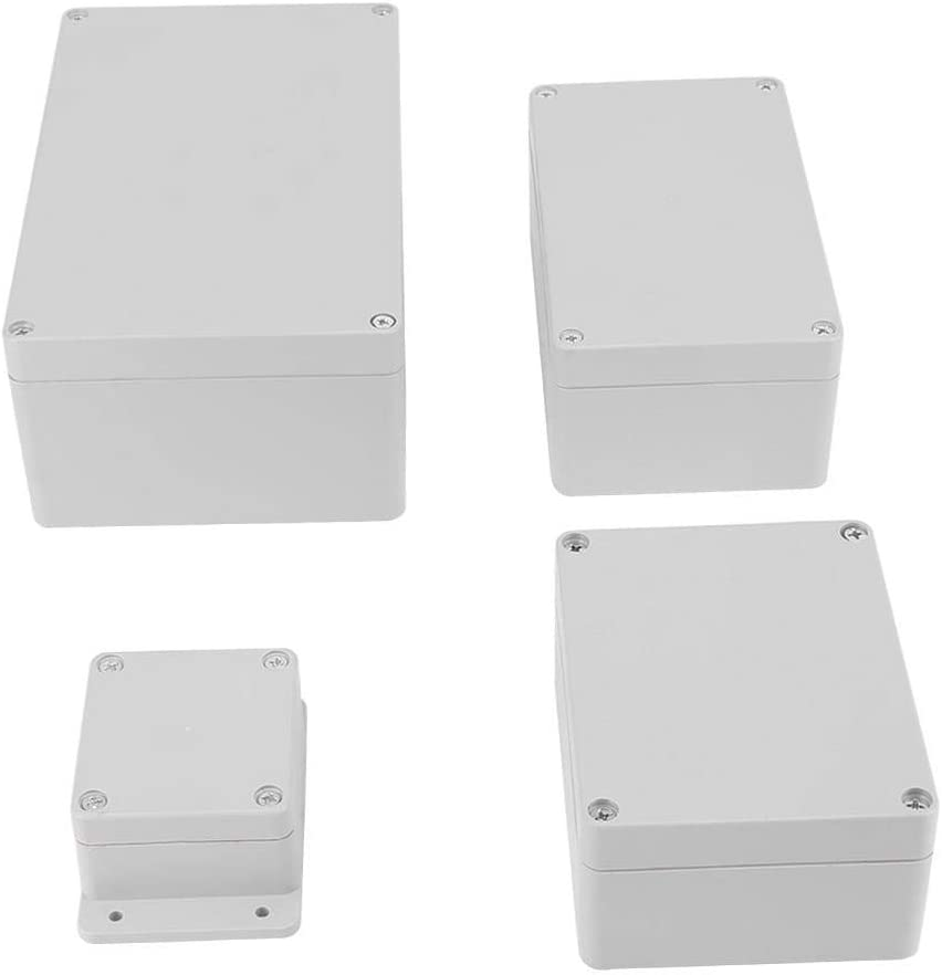 115 * 90 * 55mm Hlyjoon Bo/îte de Jonction avec Accessoires Bo/îte de Connexion Bo/îtier /électrique dinstrument de Cl/ôture de Bo/îte de Projet dABS IP65 R/ésistant /à leau