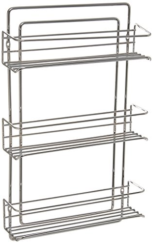 Organize It All 3-Tier Wall-Mounted Spice Rack – Chrome