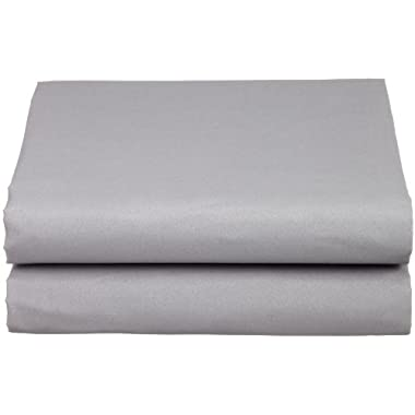 Cathay Luxury Silky Soft Polyester Single Fitted Sheet, Queen Size, Gray