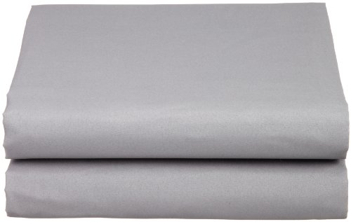 Cathay Luxury Silky Soft Polyester Single Fitted Sheet, Queen Size, Gray (Grey Single)