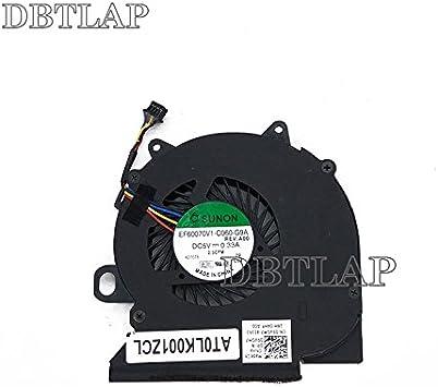 DBTLAP Ventilador de la CPU del Ordenador portátil para DELL ...