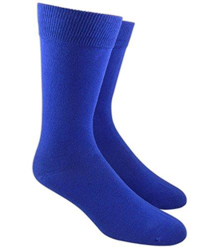 The Tie Bar Royal Blue Solid Cotton Blend Socks ()