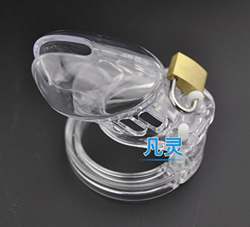 Sexshop 3 Color Male Chastity Device with 5 Size Penis Ring Cock Cage Virginity Lock Chastity Lock Cock Ring Adult Game Sex Toy Transparent by Erotic Holder Kit