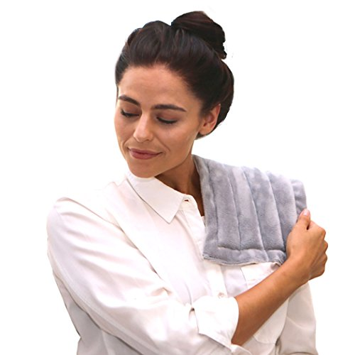 (Heating Pad Solutions - Microwaveable Buddy - Muscle, Stress, Relief Hot & Cold Pack - All Natural - Lavender Scent)