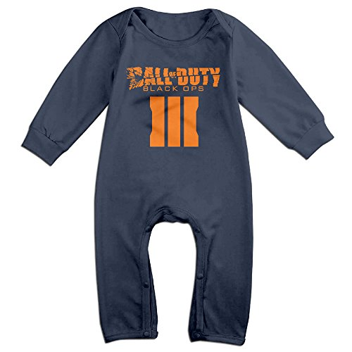 Price comparison product image PCY Newborn Babys Boy's & Girl's Call Of Duty Black Man III Long Sleeve Romper Bodysuit Outfits For 6-24 Months Navy Size 6 M