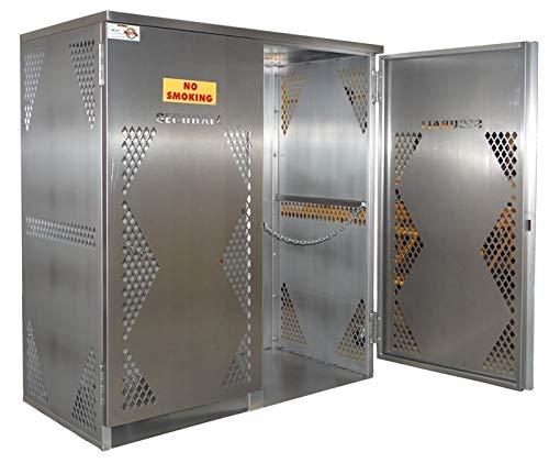 Oxygen Gas Cylinder Cabinet - Securall OG20S 10-20 Cyl. Vertical Standard 2-Door for Aluminum Cabinet for Storing LP & Oxygen Gas Cylinders