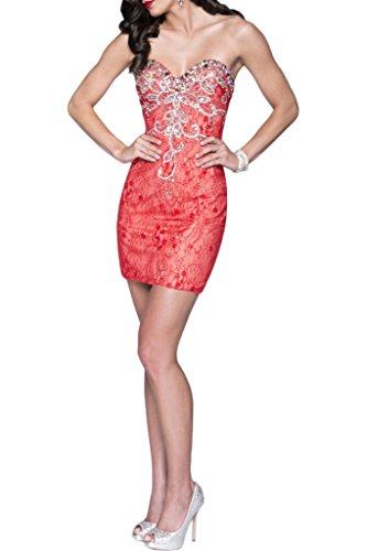 Mini Strapless Cocktail Dress Dress Watermelon Charmeuse Avril Lace Homecoming Sheath twgSqv