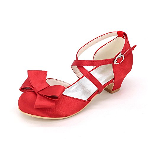 amp; appartement Dress L Outdoor Confortable Evening red YC Girls Office Cuir artificiel amp; autumn En Spring Flat Mariage Side Shoes Professional pTTIqw