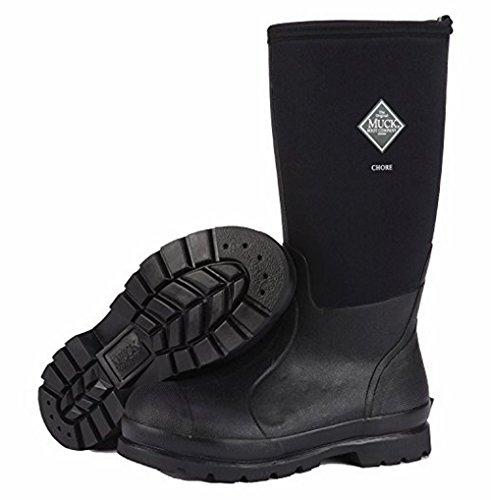 Muck Boot Menns Chore Høye Vanntette Støvler Arbeid, Svart, 8,0