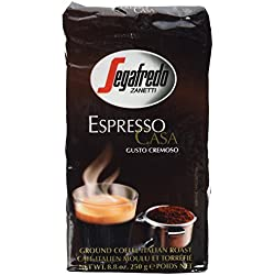Segafredo Espresso Casa Ground Coffee 8.8oz (250 grams) (Pack of 2)