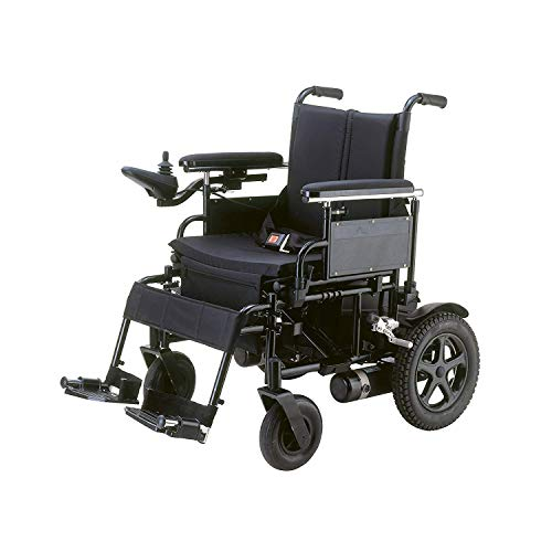"Drive Cirrus Plus EC Folding Power Wheelchair, 20"" Seat & Free 130 dB Black Personal Safety Alarm/Siren! + Black Medical Utility Bag with Trim!"