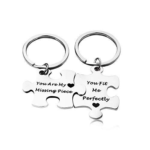 Key Chain Gift, You Are My Missing Piece, You Fit Me Perfectly, Relationship Present