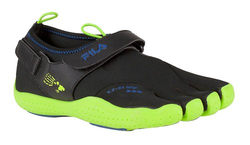 Fila Men's Skele-Toes Ez Slide Drainage Shoes,Black,13 M