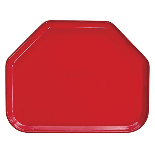 - Cambro Camtray Trapezoid Red Fiberglass Tray - 18