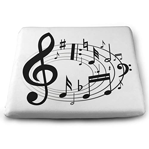 Ladninag Seat Cushion Music Notes Clipart Chair Cushion Personalized Offices Butt Chair Pads for Outdoors
