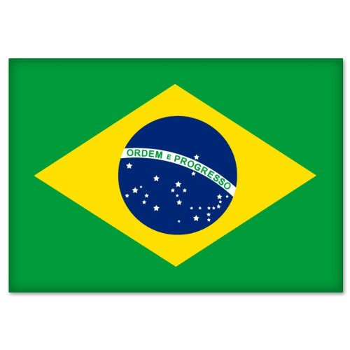"Brazil Brasil Brazilian Flag Bumper Sticker Decal 5"" x 4"""