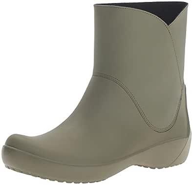 Crocs Women's Rain Floe Army Green Boot, Army Green, 4 M US
