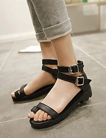 LFNLYX Womens Shoes Chunky Heel Toe Ring   Comfort   Open Toe Sandals Dress    Casual