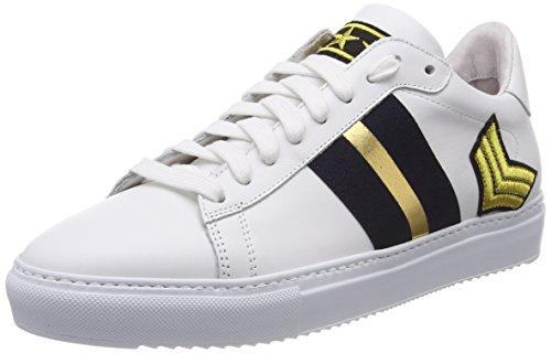 Stokton Sneaker, Scarpe da Ginnastica Basse Donna Multicolore (White/Navy/Gold)