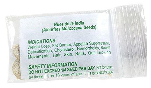 Nuez de La India 12 Seeds Producto Natural La 100 Original Authentic Indian Nut Weight Loss