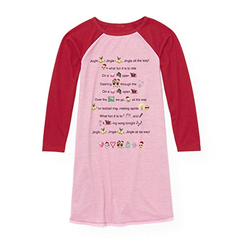 The Children's Place Big Girls' Long Sleeve Nightgown, Ruby 91418, XL (14)