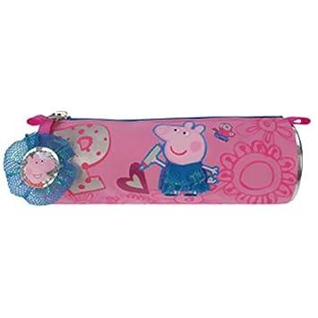 Peppa Pig - Estuche escolar cilíndrico Peppa Pig: Amazon.es ...