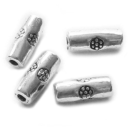 Heather's cf 380 Pieces Silver Tone Smooth Small Long Spacer Connector Findings Jewelry Making (Pewter Corner Connector)