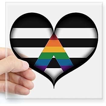 Amazon Cafepress Lgbt Ally Heart Sticker Square Bumper