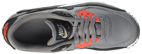 Nike Big Kids Air Max 90 Leder Laufschuhe Cool Grau / Schwarz / Max Orange