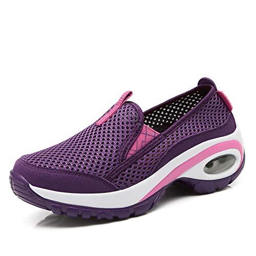 5ac2e96d59689 CN-Porter Women s Athletic Casual Slip-On Toning Sneaker Walking Shoes  Purple