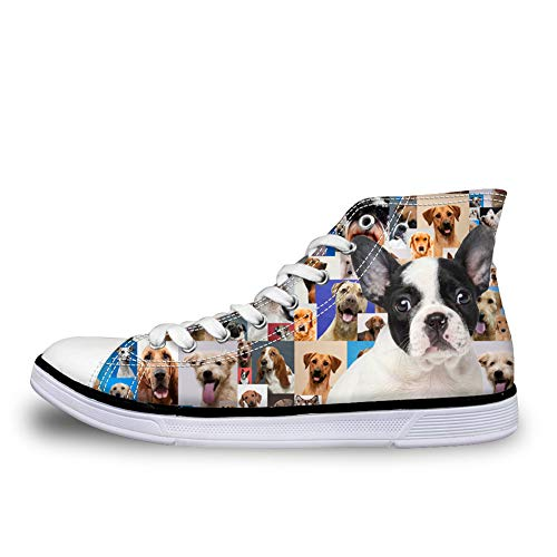 top Shoes Canvas Hi Nopersonality Comfy Modern Boston Prints Women Animals terrier qwqF1a