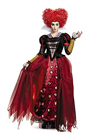 Disney Women's Alice Queen Deluxe Costume, Red, Small