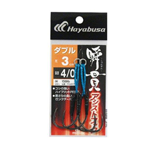 ハヤブサ(Hayabusa) 瞬貫アシストフック ダブル 3cm FS457 4/0 FS457 釣り針の商品画像
