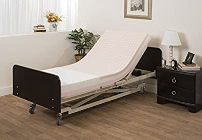 Pressure Redistribution Foam Mattress with Visco Elastic Memory Foam, 3 Layered Foam, by Medacure - Hospital Grade Cover Included